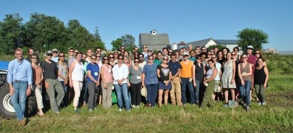 NSAC members gather at Franzenburg Farm in Iowa. Photo credit: NSAC